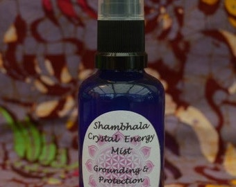 Protecting and Grounding Crystal Energy Mist with Gem Essence and Essential Oils for meditation, clearing and purifying