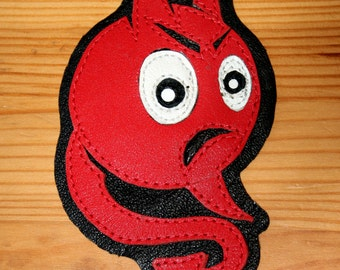 "Leather patch ""Devil Ball"""