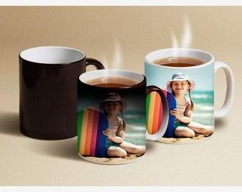 Custom photo mug > Color Changing Mugs > magic mug with photo > Personalized Coffee Mug > custom design mug