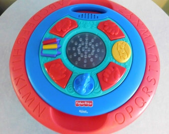 1990's Fisher Price Intelli Table Microsoft Activity Table Sounds Lights Complete!