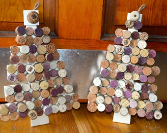Hanging Wine Cork Christmas Tree Decor