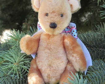 Teddy bear for childrens, handmade, soft toy, stylish interior, сhristmas gift, rustic home decor, mothers Day,   hendcrafted teddy bear.