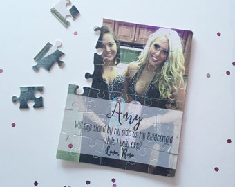 Bridesmaid Proposal Puzzle | Will you be my Maid of Honor Bridesmaid | Bridal Party