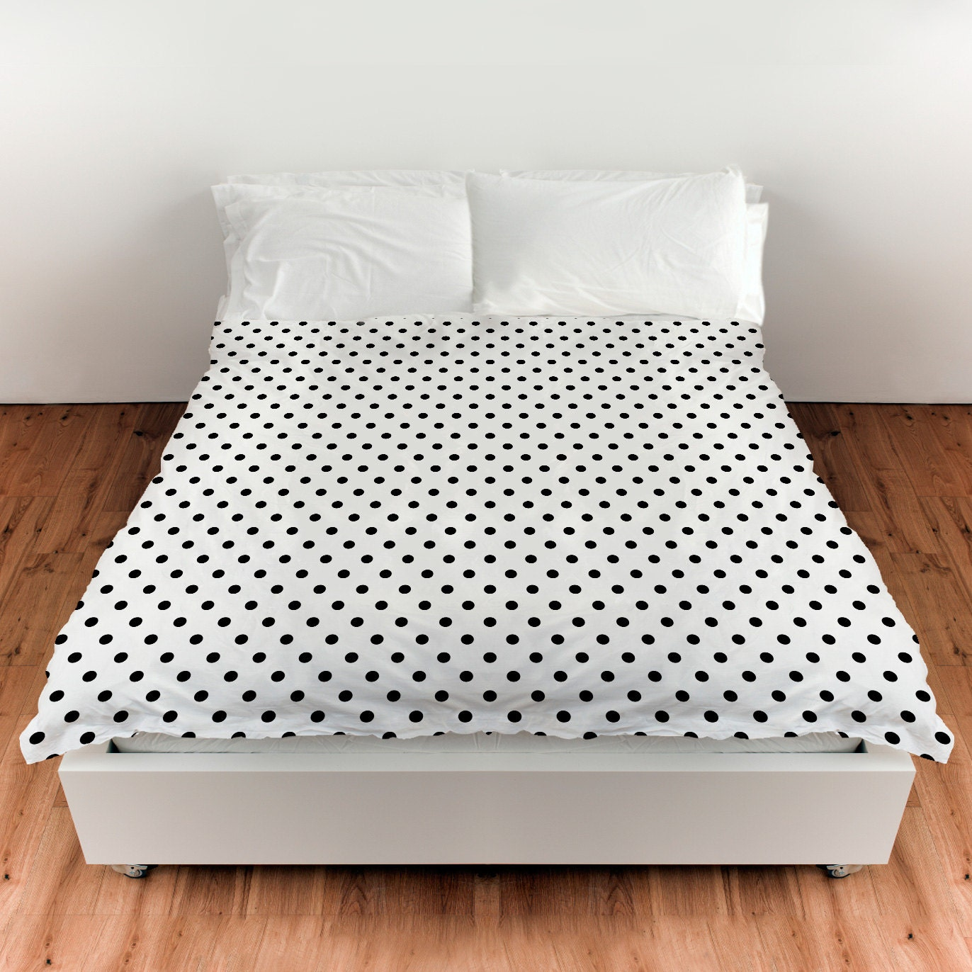 polka dot white and black duvet cover comforter cover 3. Black Bedroom Furniture Sets. Home Design Ideas