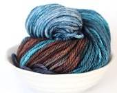 MCN Aran Yarn - Hand Dyed - Midnight on the Orient Express - Merino Cashmere