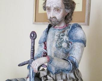 OOAK Art Doll Don Quixote.