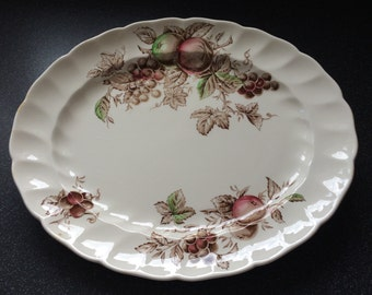 Johnson Bros. HARVEST TIME , Serving Platter. Pretty Autumnal Colours. Made in England.