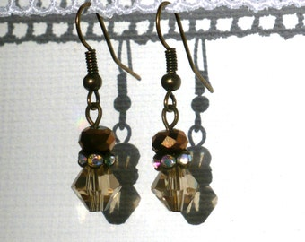 Bronze Sparkly Earrings