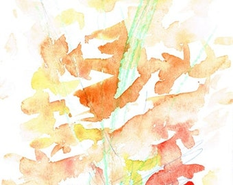 ORIGINAL abstract painting - watercolor - flowers