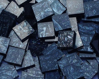 Black Sparkle Van Gogh Glass Mosaic Tiles