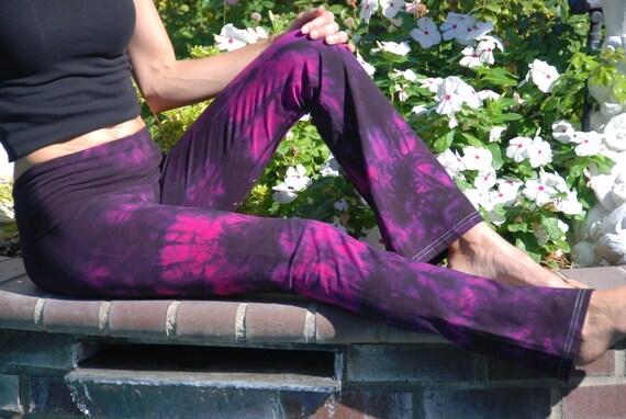 Twilight Pink Tie Dye Yoga Pants by Splash Dye Activewear