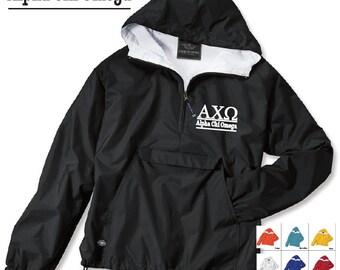 Alpha Chi Omega // A Chi O // Sorority Charles River Rain Jacket // Choose your color