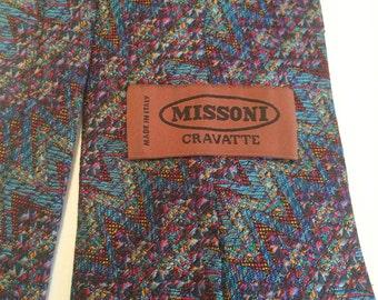 Missoni, vintage silk tie