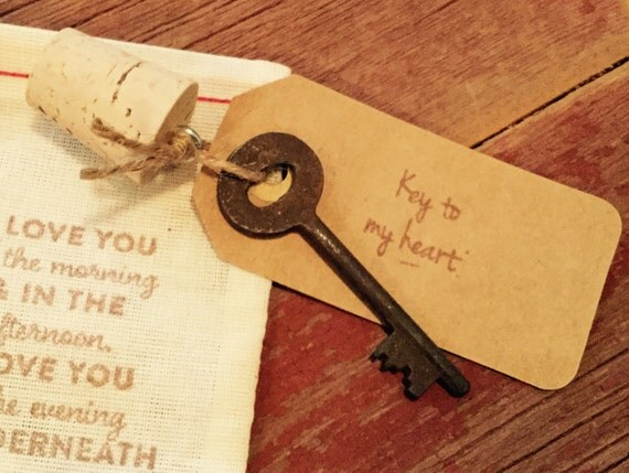 Sixth Wedding Anniversary Gift: Key To My Heart 6th Anniversary Gift Wedding Favor Iron
