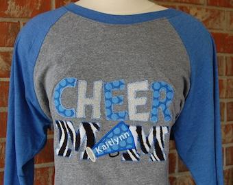 Cheer Mom Tee-Cheer Mom Shirt-Cheer Mom-Cheerleader Mom-Cheerleader Mom Tee-Cheerleader Mom Shirt-Blue Cheer Mom Shirt-Cheerleader Tee-Cheer