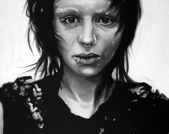 Lisbeth Salander Fine Art Print (Rooney Mara - The Girl With The Dragon Tattoo - Stieg Larsson - Sweden - NordicNoir - Punk - Goth - Icons)