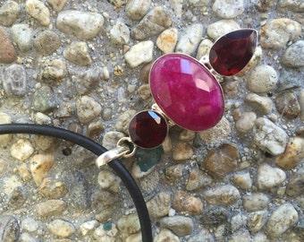 Amazing Checker cut longed Ruby-Genuine quartz