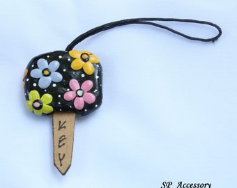 Key Cover, key case, key holding, clay handmade, clay art, clay key cover