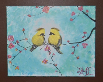Kissing Yellow Birds