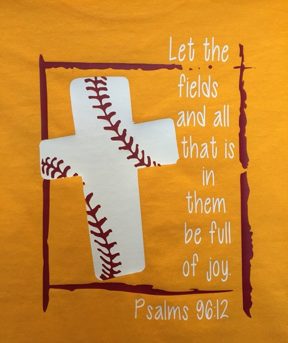 Motivational Quotes For Sports Teams: Baseball Bible Verse T-shirt