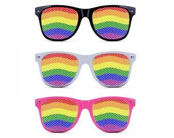 LGBTQ Pride Novelty Sunglasses - 3 frame colors (Gay, Bi, Lesbian, Transgender, Queer)