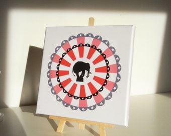 Table stretched canvas circus - circus painting Canvas