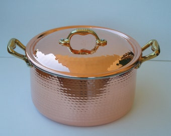 Copper Dutch oven/pot High craftsmanship. Handmade. 24 cm. H 14. 6.5 l
