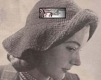 PDF The Cavalier Hat Crochet Pattern Instant Download