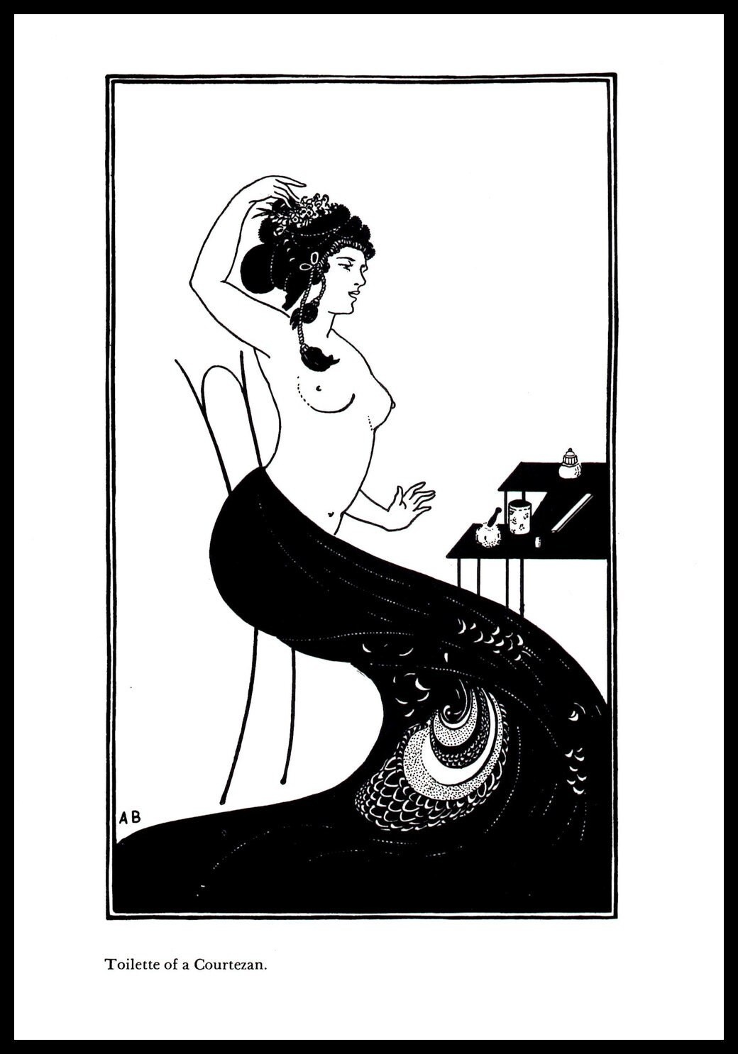4db126afded Art Nouveau Print Aubrey Beardsley Vintage Print