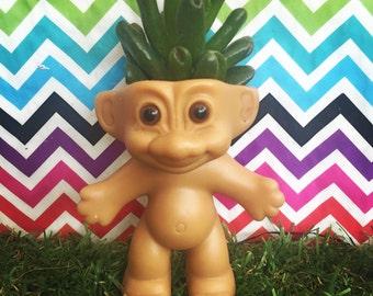Troll Doll Planter, succulent planter, cactus planter, air planter