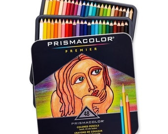 Prismacolor Set of 48 Assorted Colors Premier Soft Core Colored Pencils