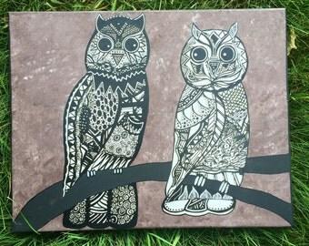 14x18 Owl love