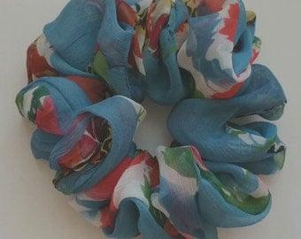 Blue Sheer Scrunchie