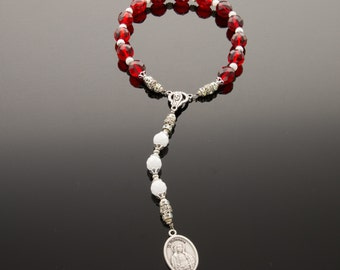St Philomena Chaplet, Prayer Beads, Religious Gift