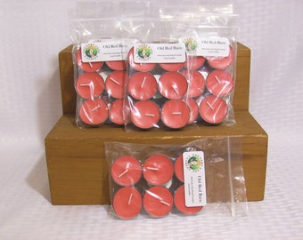 6 Pack - Old Red Barn Scented Soy Tea Light Candles