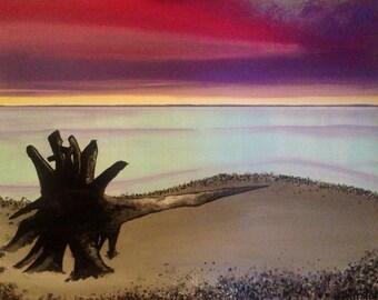 "The Drifter - 24"" x 32"" Original Acrylic Painting"
