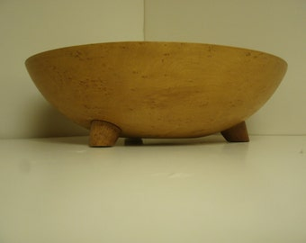 Wooden Birdseye Maple hand carved/shaped bowl