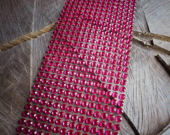 Hot Pink Diamante Strip ~ 1 pieces #100660