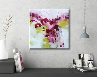 Abstract Art on canvas Original Art Abstract Wall art Abstract Painting Pink Painting Canvas Art Modern artwork Wall hanging Home decor