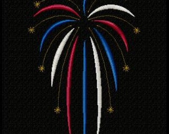 Fireworks Machine Embroidery Design