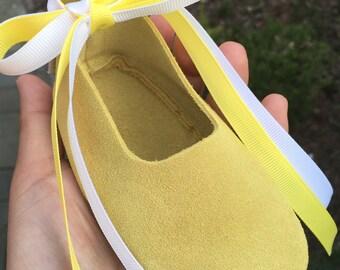 Ballet flats shoe lace upgrade.