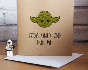 Star Wars Inspired Yoda Card