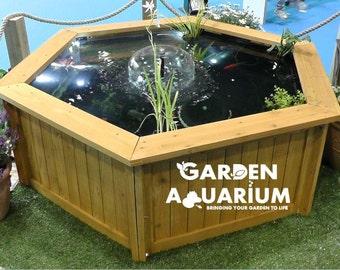 Raised Hexagon Garden Fish Pond / Water Feature (700 Litres)