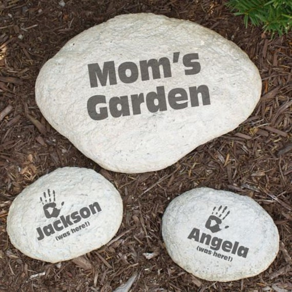 Garden Stones Large : Personalized large garden stone decorative engraved yard