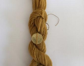 Wool 100% vegetable dye yellow ochre