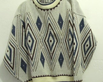 A Woman's Vintage 80's,Groovy Tribal/GEO Avante Garde era Sweater.L