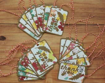 Feather Thank You Tags (set of 22)
