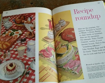 Vintage Better Homes And Gardens Lunches And Brunches Recipe Book, 35 Meal Plans, 1960's Cookbook, Vintage Recipe Book
