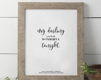 Wedding memento customized print, quote print, newlywed gift