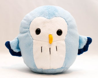 Sky Blue Pygmy Owl Plush Toy